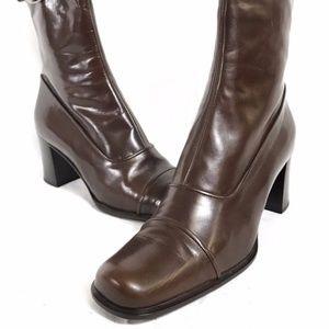 Gianni Versace Brown Italian Leather Women's Boots